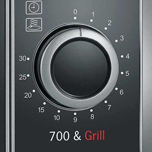Severin MW 7875 - mikrofalówka - 700W - 20l - srebrna