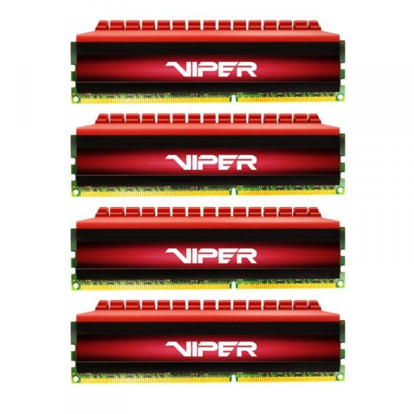 Patriot 32 GB DDR4-3000 Quad-Kit, PV432G300C6QK, Viper 4
