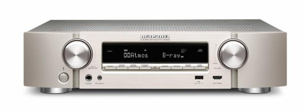 Marantz NR1606 srebrny 5.2 4K Amplituner sieciowy Dolby Atmos WLAN, Bluetooth, Airplay, Spotify Connect, Internetradio