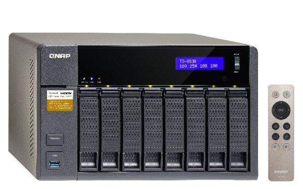 Qnap Turbo Station TS-853A-4G [0/8 HDD/SSD , 4x Gigabit-Lan, 4x USB]