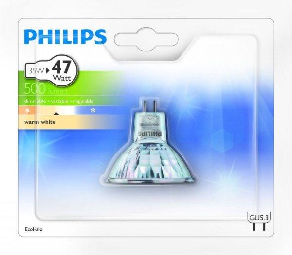 Philips HAL GU5 W-wh Eco Halogen 35W