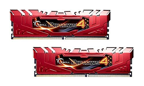 G.Skill 16GB DDR4-2666 Kit, czerwony F4-2666C15D-16GRR, Ripjaws 4
