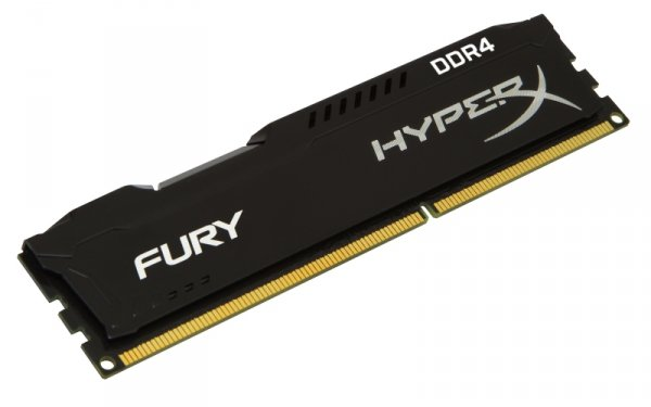 Kingston HyperX 8GB DDR4-2400, HX424C15FB/8, Fury Black