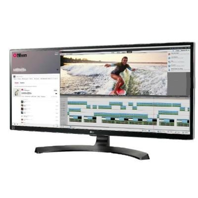 LG 34UM88C-P, czarny, HDMI, DisplayPort, USB-Hub, Audio