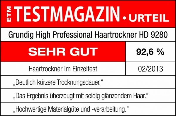 Grundig Suszarka do włosow HD 9280 2200W black
