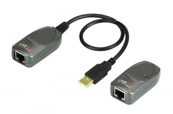ATEN USB 2.0 Extender UCE260 - przedłużacz USB do 60m na kablu RJ45
