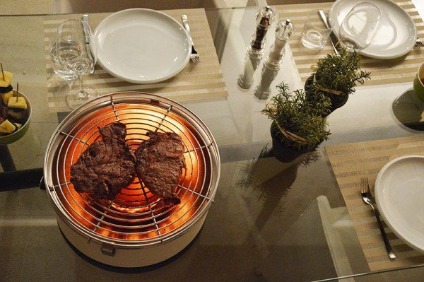 Feuerdesign Mayon stołowy grill węglowy czerwony