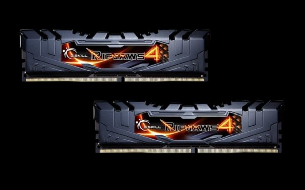 G.Skill 8GB DDR4-3200 Kit, czarny, F4-3200C16D-8GRK, Ripjaws 4