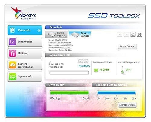 """ADATA ASP550SS3-240GM-C 240 GB - SSD - SATA - 2.5"""""""