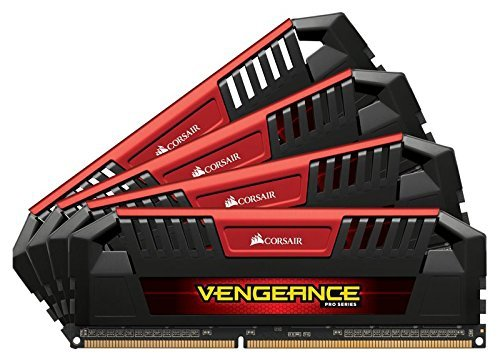 Corsair 32GB DDR3L-1600 Quad-Kit, rot, CMY32GX3M4C1600C9R, Vengeance Pro