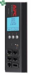 AP8958EU3 Zarządzana listwa zasilająca PDU 2G do montażu w szafie, zero U, 16 A, 230 V, (7) C13 i (1) C19, kabel IEC309