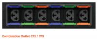 VERTIV PDU z gniazdami Combo C13/C19