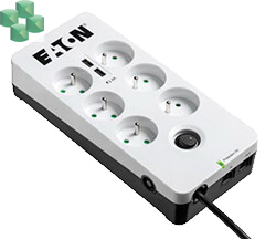 Eaton Protection Box 6 USB Tel@ FR (2 x USB, zabezp. tel.)
