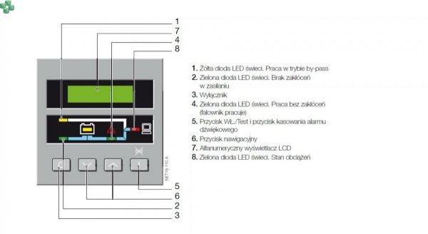 NRT2-U7000CLA Zasilacz UPS NETYS RT 7000VA/5400W 230V 50/60Hz On-Line, podwójna konwersja (VFI), moduł elektroniki z wbudowaną dodatkową ładowarką dla długich czasów podtrzymania, możliwość pracy równoległej 1+1, BEZ BATERII