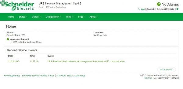 AP9635  Karta zarządzająca UPS Network Management Card 2 z funkcją monitorowania środowiska, dostępem w osobnym kanale komunikacyjnym i interfejsem Modbus