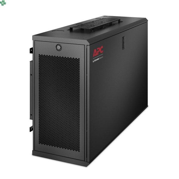 AR106VI Szafa rack NetShelter WX 6U Low-Profile, montaż na ścianie 230V, wentylatory w zestawie