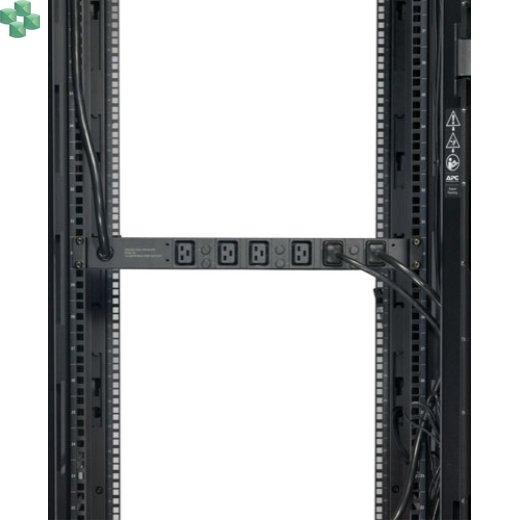 AP7526 Podstawowa listwa zasilająca PDU do montażu w szafie, 1U, 22 kW, 400 V, (6) C19