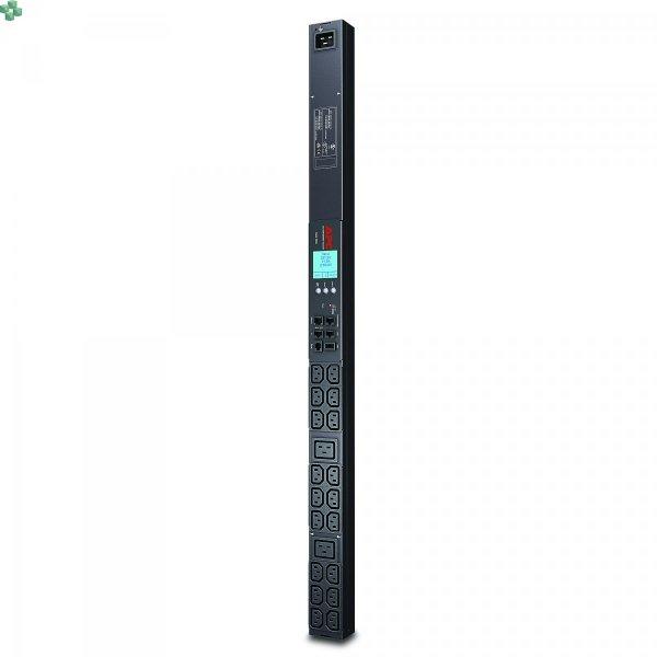 AP8858 Monitorowana listwa zasilająca PDU 2G do montażu w szafie, zero U, 20 A/208 V, 16 A/230 V, (18) C13 i (2) C19