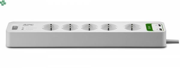 PM5U-FR Listwa zasilająca z 2 gniazdami USB (do ładowania urządzeń) - APC Essential SurgeArrest 5 outlets with 5V, 2.4A 2 port USB Charger 230V France