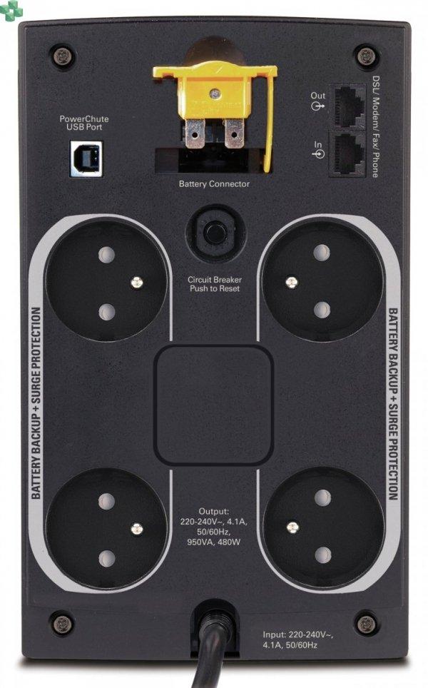 BX950U-FR APC Back-UPS 950VA/480W, AVR, gniazda FR