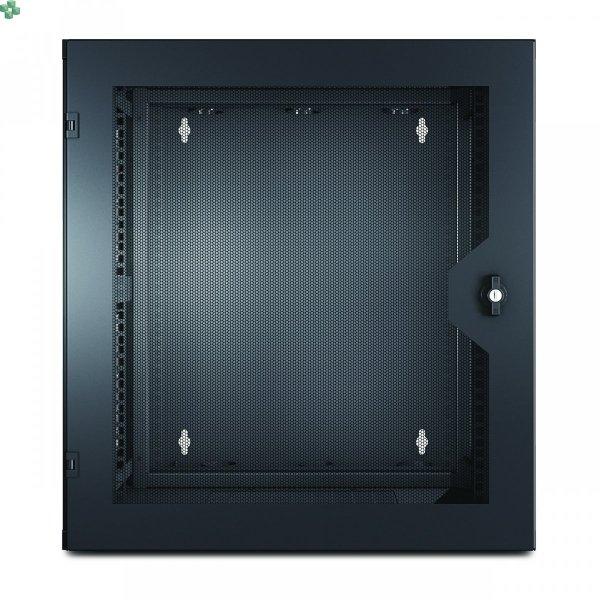 AR100HD Szafa rack NetShelter WX 13U z pionową szyną montażową z otworami gwintowanymi, przednie drzwi wentylowane, czarne