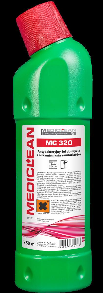 Antybakteryjny Żel do Mycia i Odkamieniania Sanitariatów MC-320 - Różne Pojemności 750ml, 5l