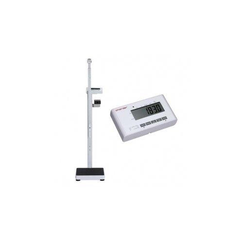 Elektroniczna Waga Medyczna Charder MS 4900 z Funkcją BMI, na Kółkach + Wzrostomierz Teleskopowy (klasy III)