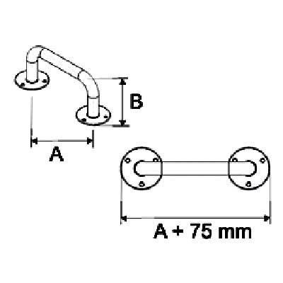 Uchwyty Łazienkowe Proste fi 32mm INOX - Różne Rodzaje