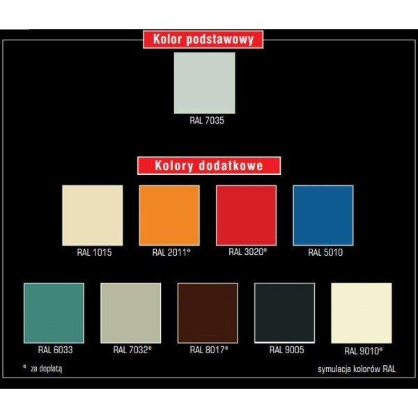 Szafa BHP Dwudrzwiowa Szeroka BHP800/2 Szerokość Modułu 40cm - Różne Kolory