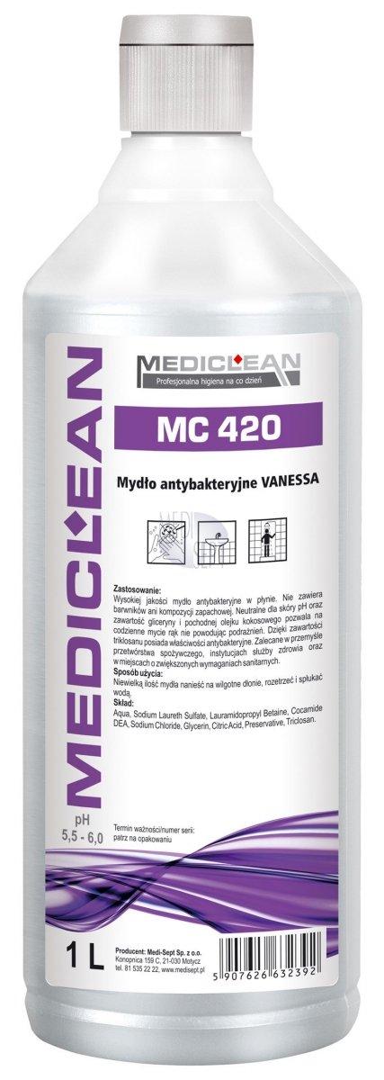 Mydło Antybakteryjne Vanessa Mediclean MC-420 - Różne Pojemności 0,5l, 5l