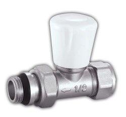 Zawór grzejnikowy 1/2 Prosty + Złączka Pex 16mm