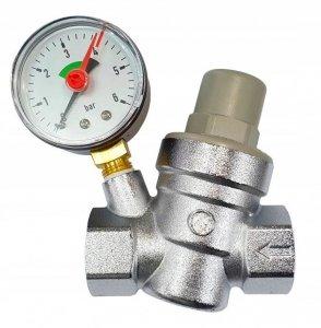 Reduktor Ciśnienia Wody 1/2 z Manometrem 6 bar