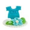 Hokus - Dekoracja cukrowa na tort - chrzest, baby shower - niebieska