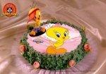 Kardasis - zestaw do dekoracji tortu Tweety + opłatek