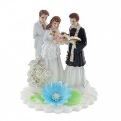 Hokus - Figurka na tort - Chrzciny z księdzem chłopiec