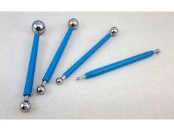 Metalowe narzędzia do modelowania z masy cukrowej KULE 4szt