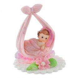 Hokus - Dziewczynka na kokardzie - dekoracja na chrzest