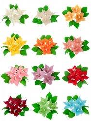 Zestaw cukrowe kwiaty LILIJKA z listkami (12 kolorów)