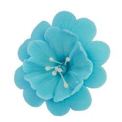 Fuksja niebieska - kwiaty cukrowe - 8 szt.