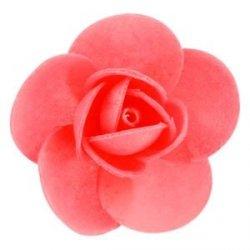 Róża opłatkowa 5,5 cm czerwona 90 szt.