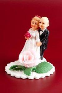 Figurka na tort Para Młoda BABCIA I DZIADEK