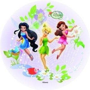 Modecor - opłatek na tort okrągły Wróżki Disneya C