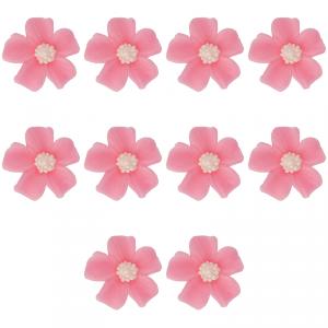 Kwiatki cukrowe na tort NIEZAPOMINAJKA (8x10szt) różowe