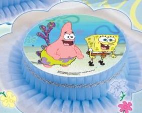 Kardasis - Opłatek na tort okrągły Pan Gąbka Spongebob 50803