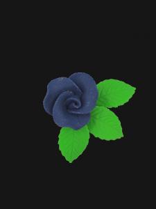 Róża mała z listkami - granatowa 20 kompletów