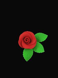 Róża mała z listkami - czerwona 20 kompletów