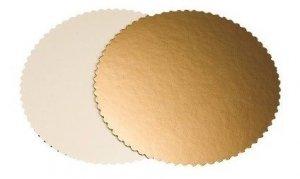 Podkład tortowy gruby gładki karbowany śr. 20 cm