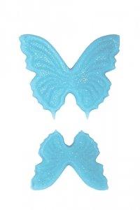 Motylki cukrowe niebieskie komplet 8x14 szt.