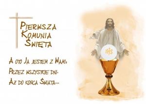 Hokus - opłatek na tort komunijny Jezus