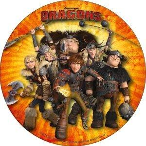 Modecor - opłatek na tort Jeźdźcy smoków (Dragons) C